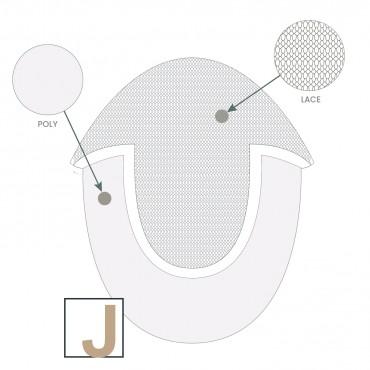 SUR-MESURE - U-Lace - UL1 - Complément capillaire