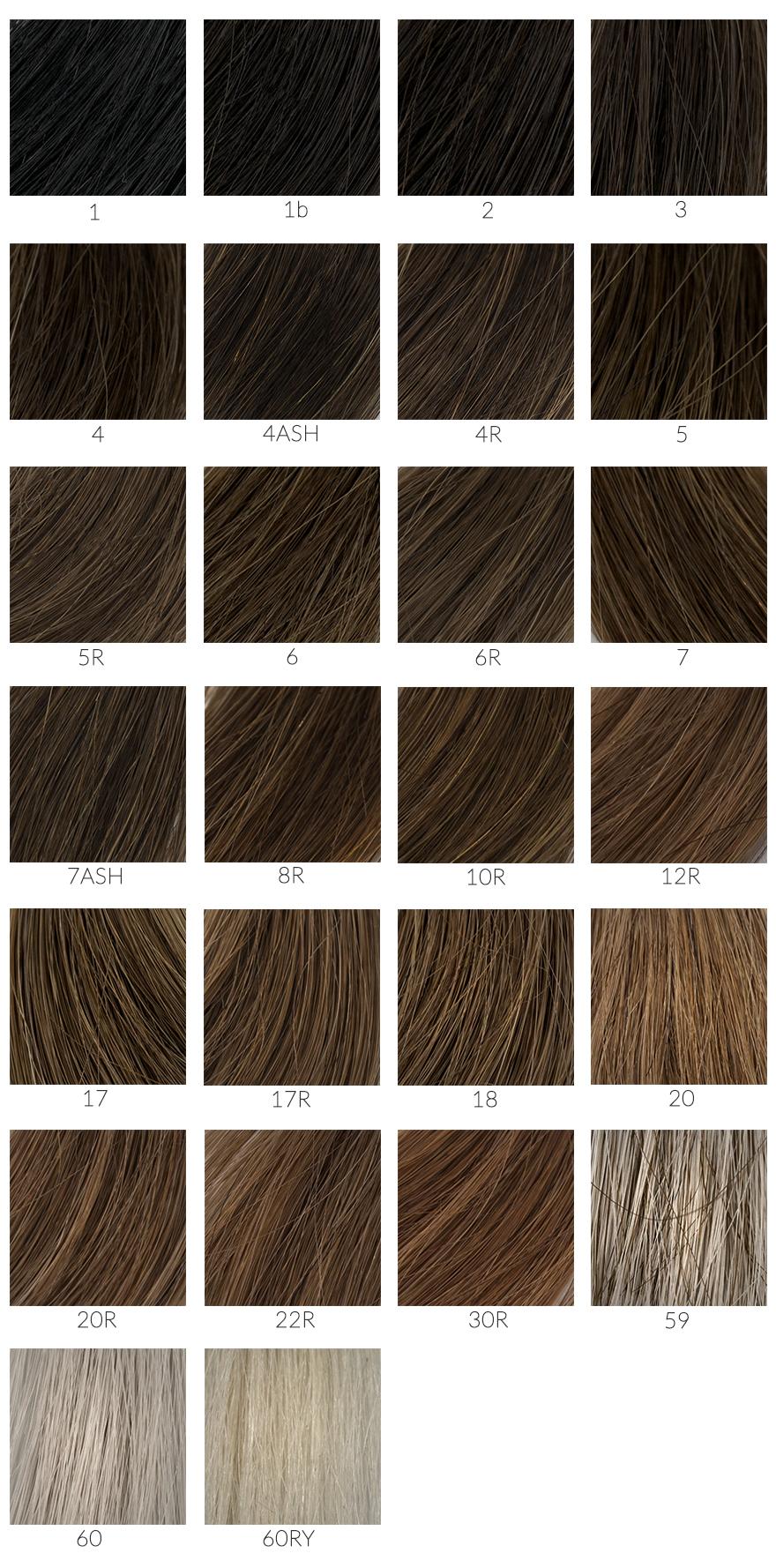 Nuancier de couleur de cheveux