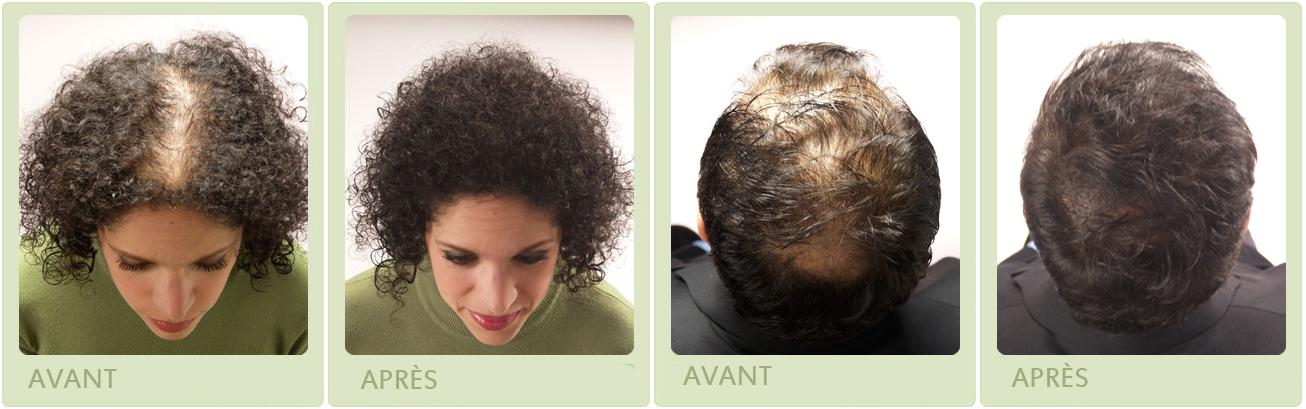Exemple poudre de cheveux